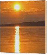 sunset Samsoe island Denmark Wood Print
