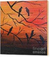 Sunset Secrets Wood Print