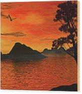 Sunset Serenade Wood Print