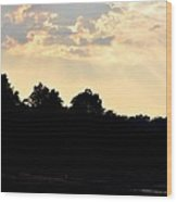 Sunset Silhouettes Over Star Lake Wood Print