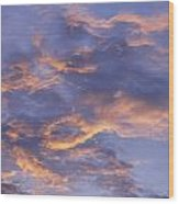 Sunset Sky Over Nipomo, California Wood Print