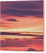 Sunset Skyscape Wood Print