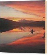 Sunset Solitude On Lake Eastman Wood Print