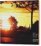 Sunset Soon Wood Print