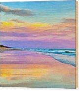 Sunset South Of Todos Santos Wood Print