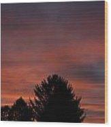 Sunset Spirit In The Sky Wood Print