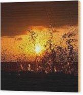 Sunset Splash 2 Wood Print