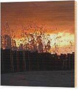 Sunset Splash 4 Wood Print