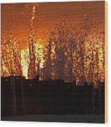 Sunset Splash 6 Wood Print