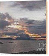 Sunset Storm Clouds Inner Hebrides Wood Print