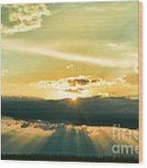 Sunset Sunbeams Wood Print