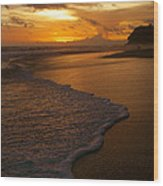 Sunset Surf Playa Hermosa Costa Rica Wood Print