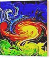 Sunset Swirl Wood Print