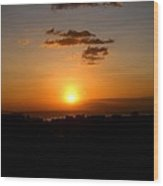Sunset Upon The Ocean Number Three Wood Print