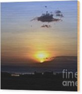Sunset Upon The Ocean Number Two Wood Print