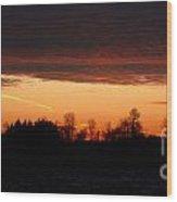 Sunset Warmth Wood Print