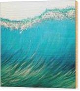 Sunset Wave Five Wood Print