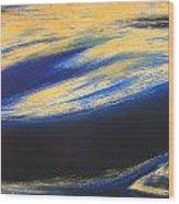 Sunset Wave One Wood Print