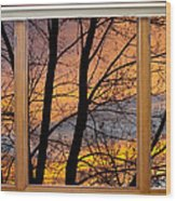 Sunset Window View Wood Print