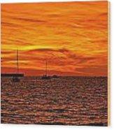 Sunset Xix Wood Print