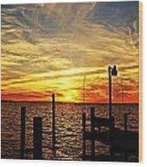 Sunset Xv Wood Print