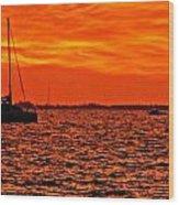 Sunset Xxii Wood Print