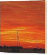 Sunset Xxvii Wood Print