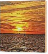 Sunset Xxxi Wood Print