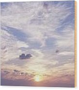 Sunsets Over The Beach, Magheraroarty Wood Print