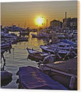 Sunsetting Over Rovinj 2 Wood Print