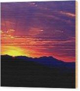 Sunshine Mountain Range Wood Print
