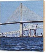 Sunshine Skyway Bridge II Wood Print