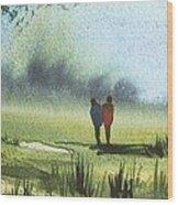 Sunshine Stroll Wood Print