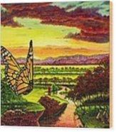 Sunshine Traveler-monarch Wood Print