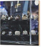 Super Bowl Rings  Wood Print