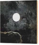 Super Moon II Wood Print