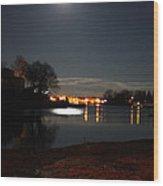 Super Moon Night   2 Wood Print
