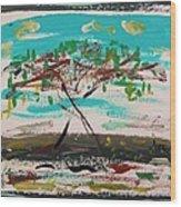 Super Summer Day-homage To Howard Hodgkin Wood Print