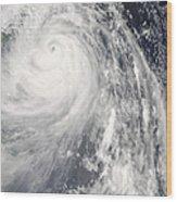 Super Typhoon Wipha Wood Print