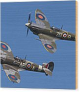 Supermarine Spitfires Wood Print