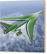 Supersonic Aircraft Design Wood Print