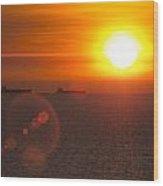 Supertanker Sunset Wood Print