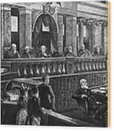 Supreme Court, 1888 Wood Print
