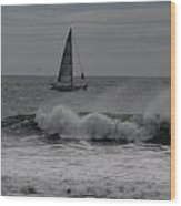 Surf And Sail Wood Print