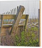 Surf City Chair Wood Print