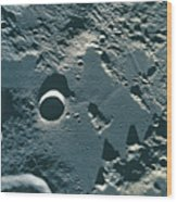Surface Of The Moon Wood Print by Stockbyte