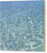 Surface Of Water At Sezoko-island Beach Wood Print