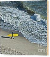 Surfer  Wood Print