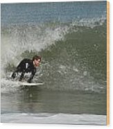 Surfing 398 Wood Print