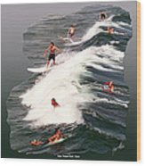 Surfing Deerfield Beach Wood Print